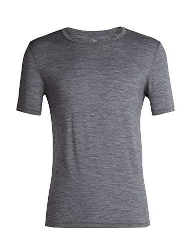 icebreaker Merino Tech Lite Herren T-Shirt, kurzärmelig, Rundhalsausschnitt, Größe L, Gritstone Hthr