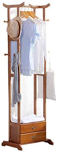 FVGH Met lade Multifunctionele Kast kapstok Vloerstaande hangers bamboe Entree slaapkamer foyer C