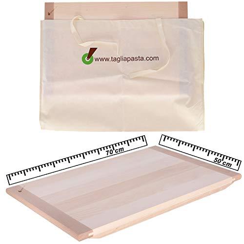 Tagliapasta Tabla para amasar de madera de tilo maciza con funda  ...