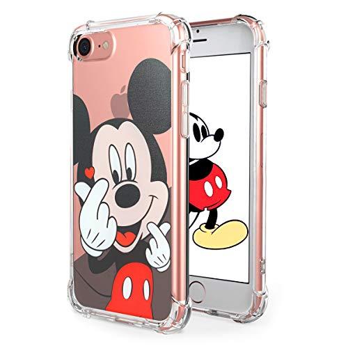 Darnew Heart Mickey Custodia per iPhone 6 Plus/6S Plus 5.5' , Cartone Animato Carino Morbido TPU Freddo Divertimento Cover per Bambini Ragazze Donne Protettivo Custodia per iPhone 6Plus/6S Plus