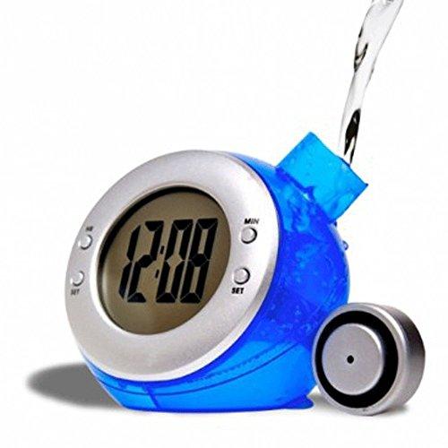 FISHTEC ® Réveil à Eau Globe 4 en 1 - Heure, date, thermomètre et alarme