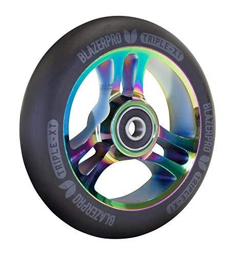Blazerpro Scooter Wheel Ruedas Patinaje, Unisex Adulto, Multicolor (Black/Neochrome), 110