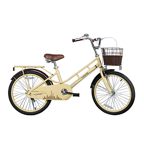 COEWSKE 20 Inch Kids Bike Fantasy-Style Children Leisure Bicycle with Basket Kickstand Included Fit for 6-13 Years Old Or 49-60 Inch Kids 3 Color