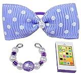 happyblockbuilder Compatible with Littlest Pet Shop Accessories LPS Bow Collar Phone Random Gift Bag Lots Craft Sets; Pets NOT Included (Purple)