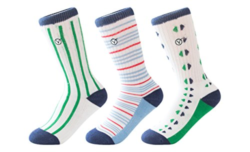 Boys 3 Pack Casual Cotton Socks – Versatile For Any Occasion By VYBE (SMALL, Combo E)