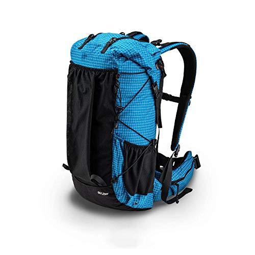 Topashe Mochila de Senderismo Cubierta Camping Deporte,Bolsa de montañismo al Aire Libre, Mochila de Viaje de Gran Capacidad-Blue_40L,Mochila Trekking Escalada