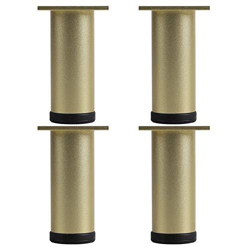 4 Piezas Patas de Mueble Ajustable,DIY Mesa Piernas de Metal,Pies del Gabinete de Aleación de Aluminio,Para Sofá,Armario de TV,Mesa de Café,Altura Regulable 0-8 mm,con Tornillos(gold30cm)