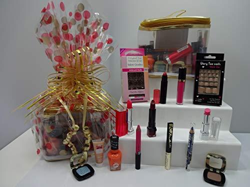 Make-up-Set, Beauty Geschenkkorb, Bulk Mix Marken Lippenstifte, Lipgloss, Lidschatten, Nägel, Zehennägel, Eyeliner, Free Foundation, Make-up-Set für Frauen