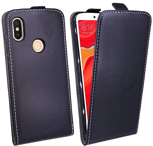 cofi1453 Klapptasche Schutztasche Schutzhülle kompatibel mit Xiaomi Redmi S2 Flip Tasche Hülle Zubehör Etui in Schwarz Tasche Hülle