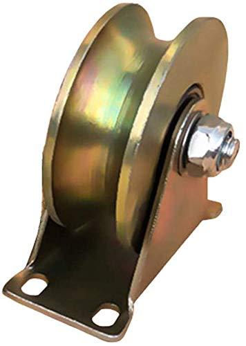 Stijve U-Groove Roller met beugel high-performance Rollers voor schuur deuren 45# Staal Schuifhek Accessoires voor poort Frames trolleys voor industriële machines Draad Kabelrail ( 80 mm.