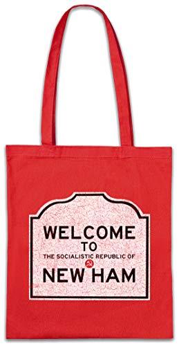 Urban Backwoods Welcome To The Socialistic Republic Of New Ham Boodschappentas Schoudertas Shopping Bag