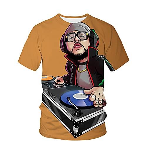 Camiseta Hombre Moderno Urbano Básico Cuello Redondo Regular Fit Hombre Shirt Verano Tendencia Moda Rock...