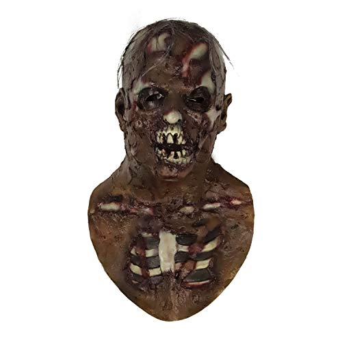 molezu Mscara de payaso de horror, disfraz de Halloween para fiestas de disfraces de Halloween
