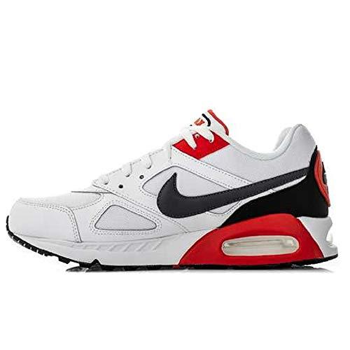 Nike Air Max Ivo Herren Running Trainers CD1540 Sneakers Schuhe (45 EU, White Dark Grey Habanero Red 100)