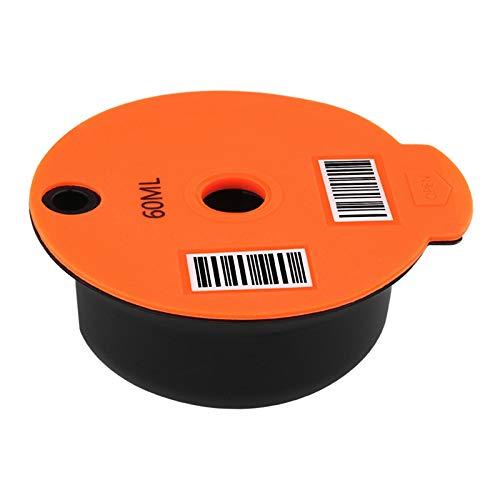 Baoblaze Cápsula de café de plástico recargable para cafetera Bosch tassim, malla de acero inoxidable, tapa de silicona - 60ml