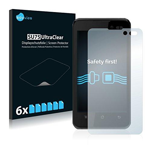 savvies 6-Pezzi Pellicola Protettiva Compatibile con NGM Dynamic Racing 3 Color Protezione Schermo Trasparente