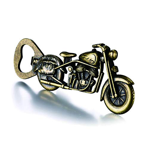 Valentines Day Motorcycle Gifts for Men, Vintage Motorcycle Beer Bottle Opener Gifts for Men Husband Dad, Unique Birthday Christmas Stockings Gifts Cool Gadgets