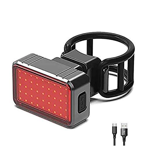 ZBQLKM Brillante luz Trasera Luces LED for su Bicicleta - Super Smart Light Freno Trasero Impermeable Brillante USB Recargable, iluminación Trasera - Se Adapta a Todas Las Motos