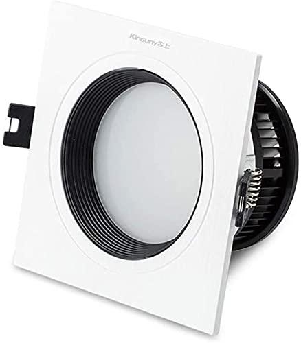 Downlight Empotrable LED 4W / 7W Cuadrado De Una Cabeza Representación De Color De Alto Rendimiento Downlight Empotrado Ajustable Panel De Techo De Dormitorio Interior Para El Hogar Panel De Luz Para