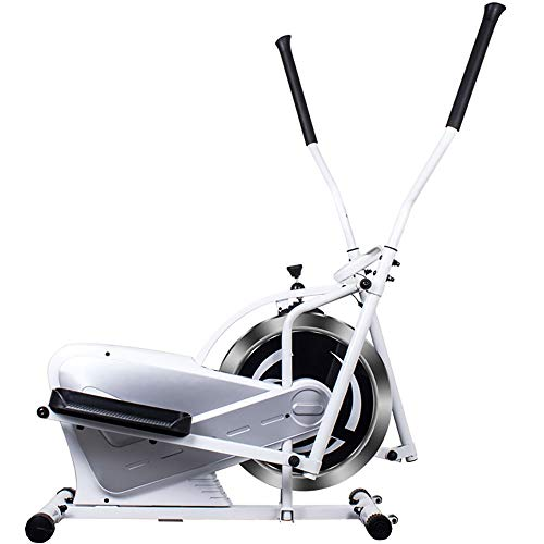 QinWenYan Máquina de Entrenamiento Elíptica Elíptica Máquinas de Ejercicios for Trabajo Pesado Cruz Crank Driven y Monitor for Home Fitness para Deportes (Color : White, Size : Free Size)
