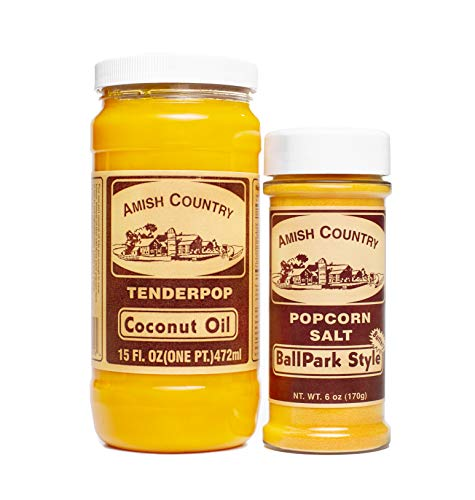Great Deal! Amish Country Popcorn | Oil and Seasoning Variety Pack | Coconut Oil - 15 oz and Ballpar...