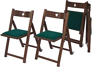 Del Fabbro - Juego de 4 sillas de Juego Plegables, Color Nogal Barnizado, Ninguna