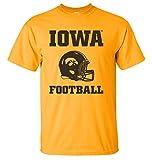 CornBorn Iowa Hawkeyes Tee Shirt - Iowa Football Helmet - Gold - 4X