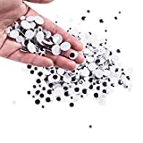 Mini Wiggle Eyes Black Small Plastic Round Moving Googly Eyes for Children School Classroo...