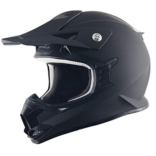 HYDRA Triangle Adult Motocross Helmets ATV Dirt Bike Off-Road Dot Approved (Medium)