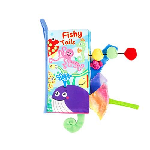 Floridivy Dieren Tail Learning Fabric Book 3D baby doek boek Kinderen Early Development Educational Playbook