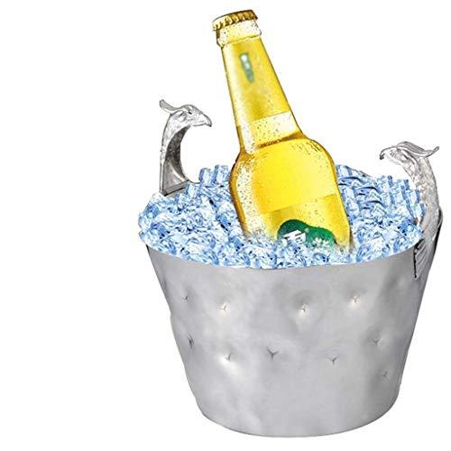 YWSZJ Großer Eiskübel |Edelstahl Günstige Champagner Eiskübel Weinkühler