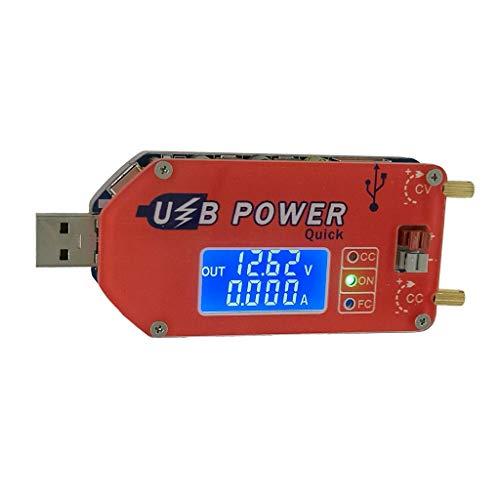 Yintiod DC 1-30V 15W QC 2.0 3.0 FCP Schnelllade-Labornetzteil Regulador DP3A Digitalanzeige USB-justierbares Stromversorgungsmodul