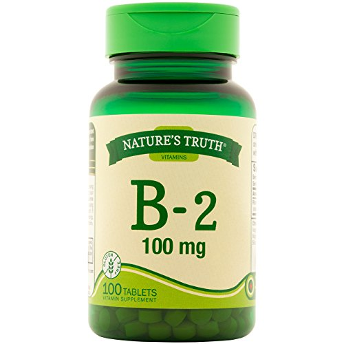 Nature's Truth Vitamin B-2 100mg Tablets, 100 Count