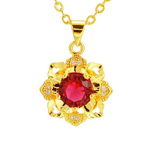 N/A Collar Conjunto De Collar Y Aretes De Circonitas Joyas Americanas Simples Colgante De Rosa Regalo del Día De San Valentín Regalo del Día De La Madre