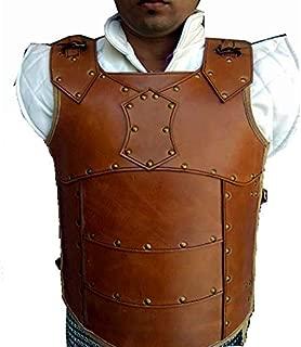 The Medieval Shop Leather Vest Medieval LARP Armor, Viking SCA Renaissance- Antique