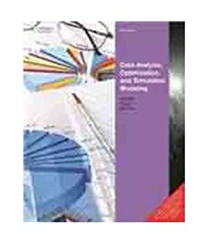 Data Analysis, Optimization and Simulation Modeling [with CD] 8131518221 Book Cover