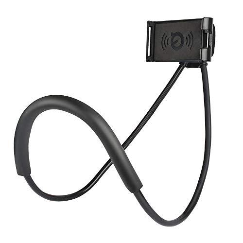 Supporto Universale per Telefono Cellulare e Tablet, Supporto per Cellulare da Collo Rotante a 360 °, Supporto Multifunzionale Flessibile, Supporto Pigro, Multifunzionale e flessibile(nero)