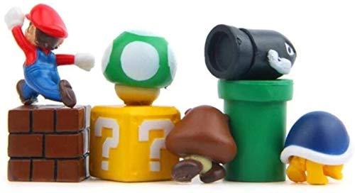 ZP-MIN Imanes de nevera Super Marios Siuts Green Mario Magn, ladrillos, balas, buzón de correo, juguetes para niños cumpleaños decoración del hogar, 12 piezas estilo viejo-8 piezas
