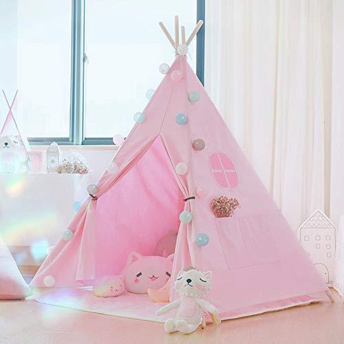 YYQLLXH Tienda de Juegos para niños de 1.6M Pink, Playhouse de Juguete para Padres y niños en Interiores, campaña para niños al Aire Libre (con cojín)