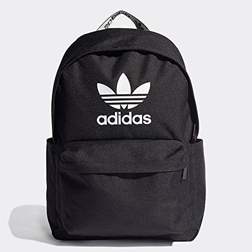 adidas, Adicolor Backpk , Zaino, Nero Bianco, Ns, Unisex Adulto