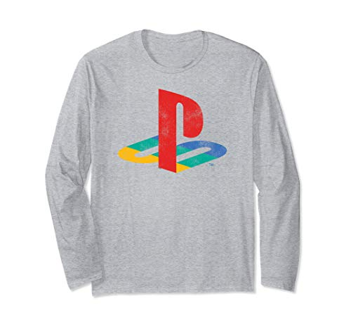 Playstation Playstation Logo Retro Distressed Long Sleeve