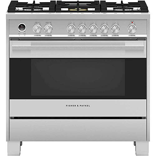 Best Prices! Fisher Paykel OR36SDG6X1 Contemporary Series 36 Inch Freestanding Dual Fuel Range