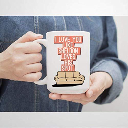 N\A Taza de café Sheldon Cooper, Taza de cerámica para Oficina y hogar, té, Leche, cumpleaños para Ella o para él, 11 oz