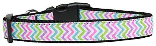 Mirage Pet Products 125–187MD Sommer Chevrons Nylon Hundehalsband, Medium
