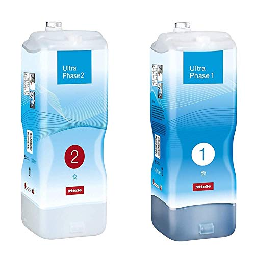Miele UltraPhase 2, Detersivo TwinDos, Capi bianchi e colorati, 1.4 lt, 50 Lavaggi & UltraPhase 1, Detersivo TwinDos, Capi Bianchi e Colorati, 1.4 lt, 37 Lavaggi