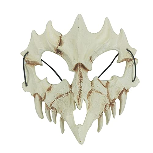Halloween Mascara Carnaval Terror MáScaras,Máscara de Resina para Halloween, Cráneo Esqueleto Máscara de Media Cara, para Carnival Navidad Halloween Cosplay Grimace Festival Fiesta Show Mascarada