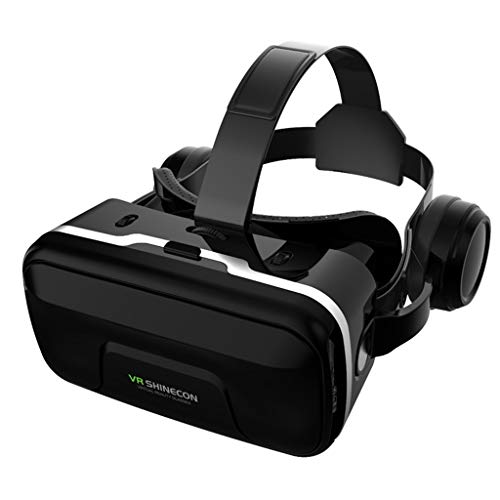 XMYL VR Headsets, 3D Glasses with Built-In Headphones And 120 Degree FOV, Virtual Reality Headsets for Ios Android Smartphone