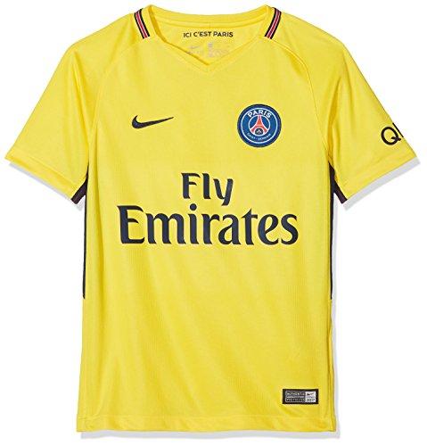Nike 847408-720 Paris Saint Germain 2017-18 - Camiseta para Niños, Unisex, Amarillo (Tour Yellow/Midnight Navy), M