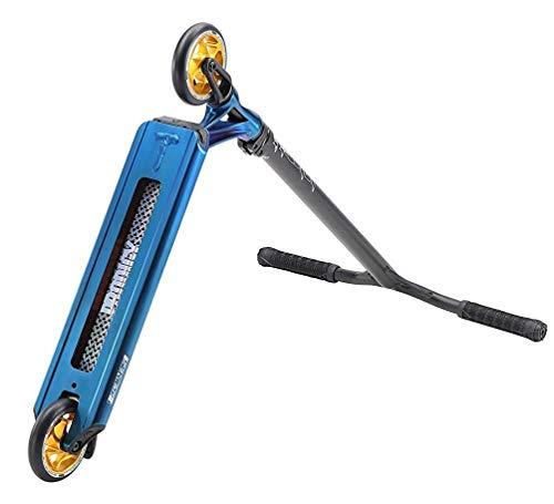 Blunt Prodigy S8Trottinette de cascades/freestyle complète avec autocollant Fantic26, Park Burnt Pipe bleu chromé., Höhe=85cm