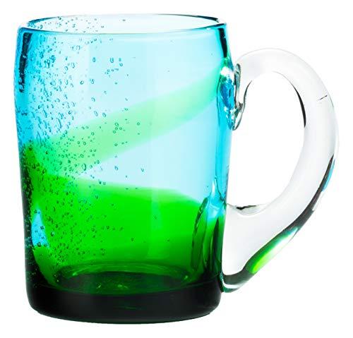 アールジーシー(RGC) ジョッキ 水/緑 8.5×12 琉球ガラス